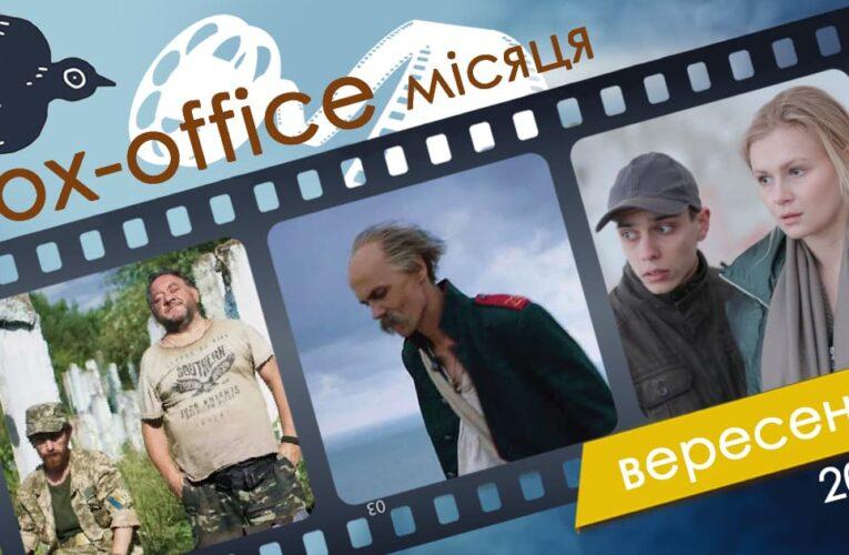 Бокс-офис украинских фильмов в сентябре 2020 года